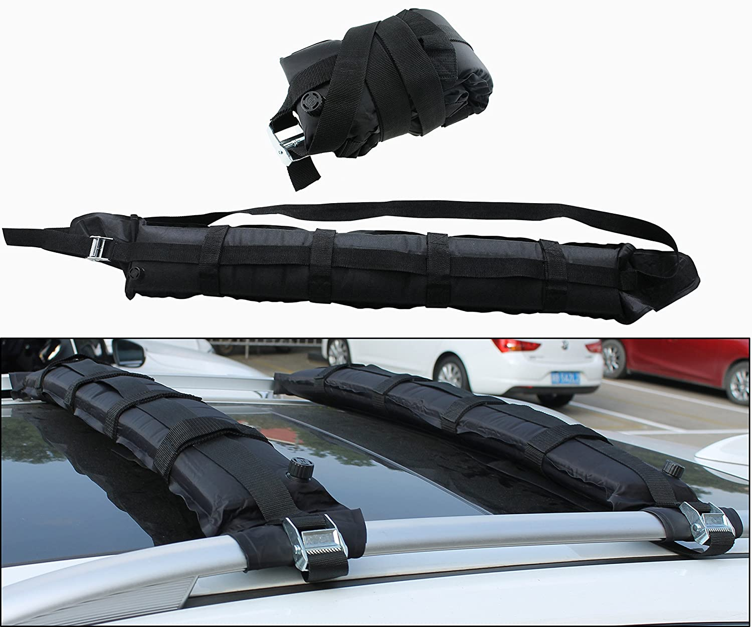 snowboard automotive load ca roof luggage rack for capacity amazon lb ski car kayak inflatable soft iztor driving dp carrier