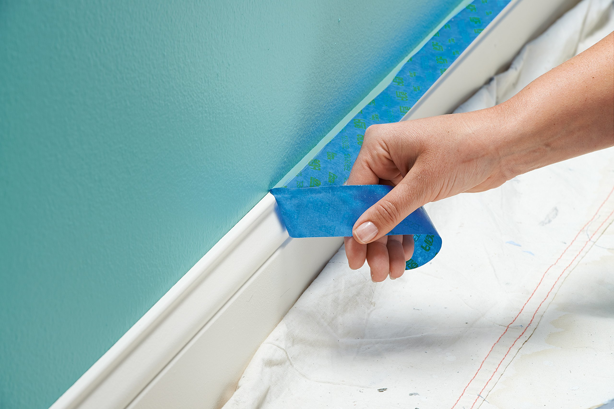 ScotchBlue 2093EL-24CVP Trim + BASEBOARDS Painters Tape.94 in x 60 yd, 3 Rolls, Blue by ScotchBlue (Image #4)