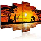 murando Impression sur toile 100x50 cm - 5 pieces - Image sur toile - Images - Photo - Tableau - motif moderne - Décoration - tendu sur chassis - Afrique 5730 100x50 cm