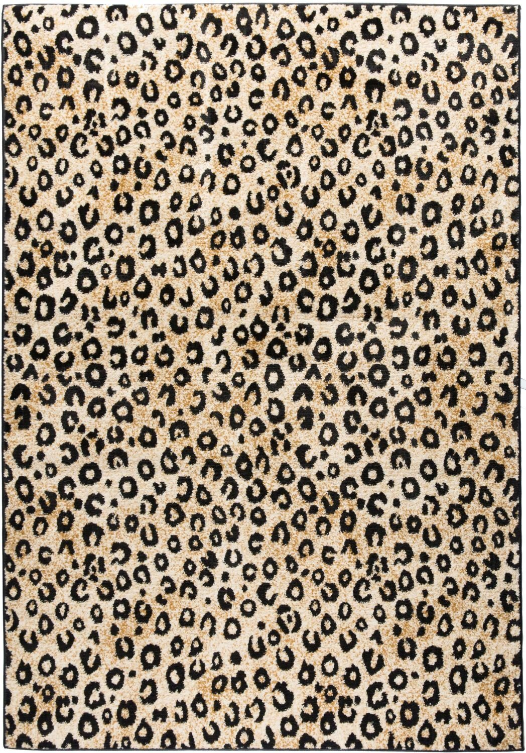 Well Woven Dulcet Leopard Black Ivory Animal Print Area Rug 2' X 7'3'' Runner by Well Woven