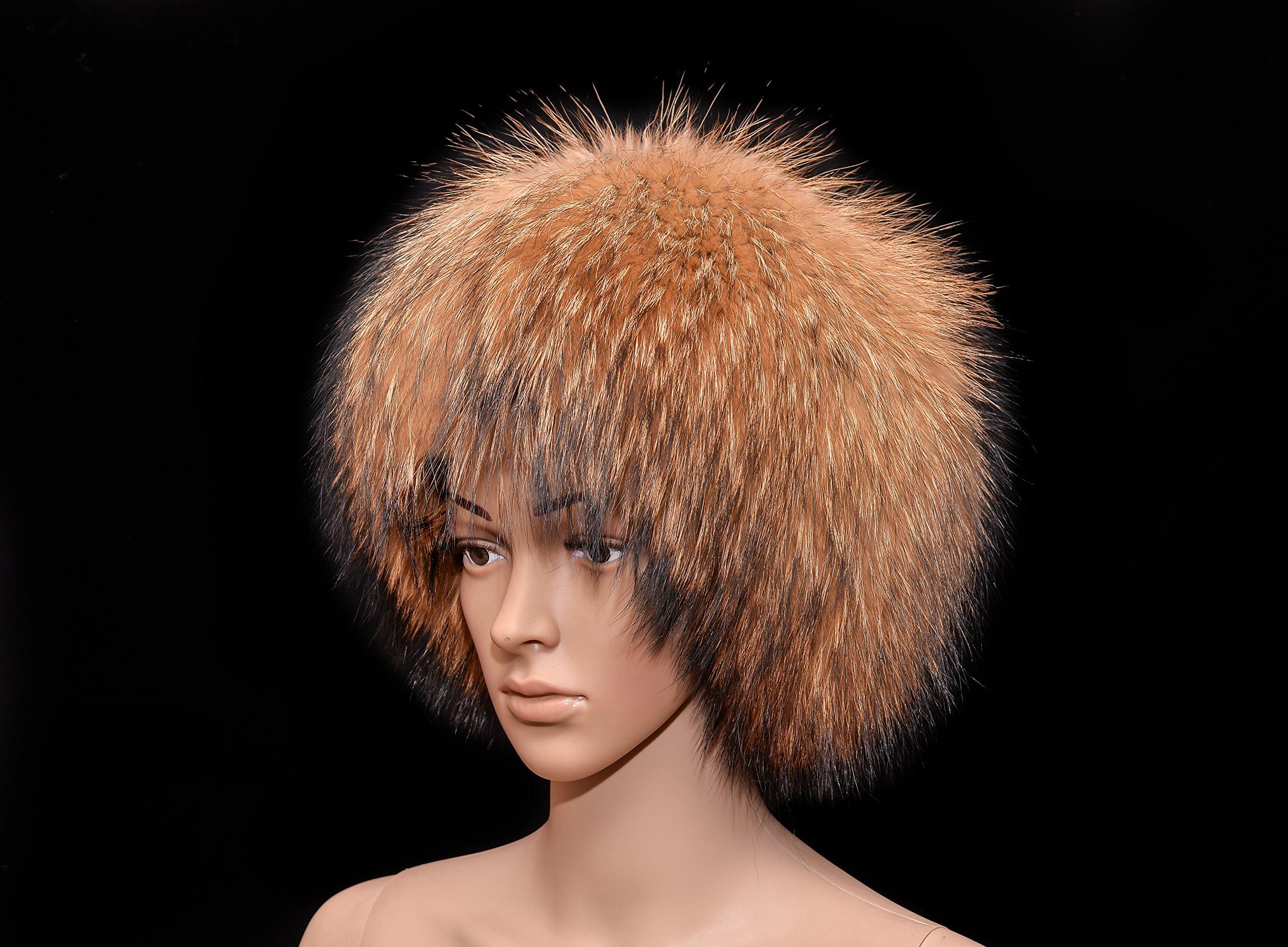 Royal Saga Furs Natural Finnraccoon Full Fur Cossack Bucket Style Women's Hat