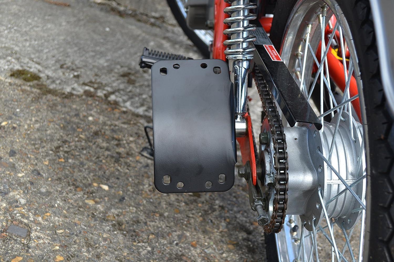 Montaggio Laterale Con Sbarre Stile Prigione Stile Moto Motocicletta Luci Posteriori /& Targa//Portatarga
