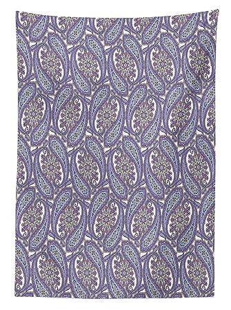 Paisley decoración mantel indio floral ornamentales diseño estampado ...