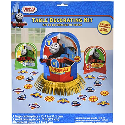amscan Thomas The Tank Engine Centerpiece Table Decorating Kit 23 Count Birthday Party: Toys & Games