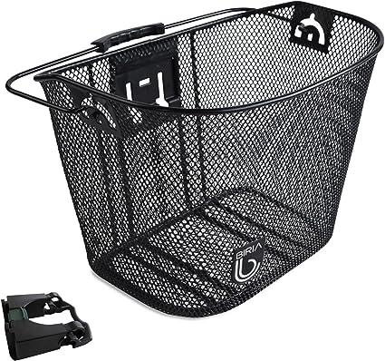 Mountain Bike Folding Bicycle Basket Quick-release Aluminum Handle Storage Baske