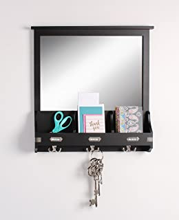 entryway mirror with hooks Amazon.com: Entry Mirror with Hooks   Black: Home & Kitchen entryway mirror with hooks