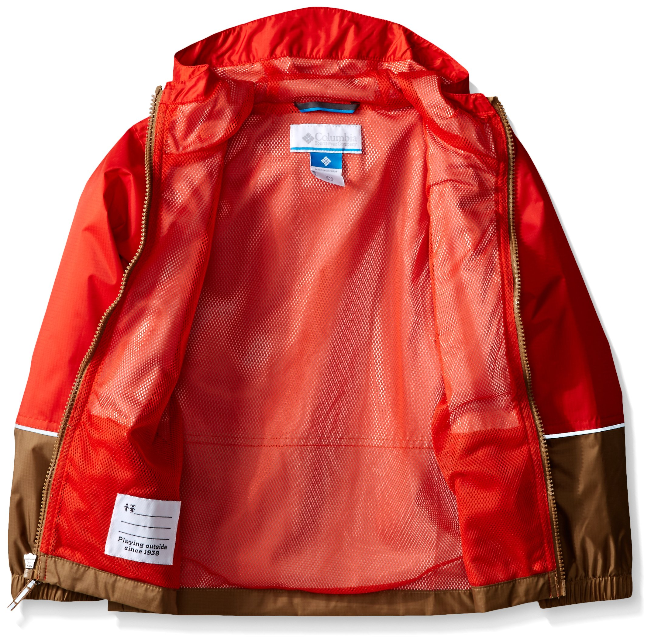 Columbia Big Boys' Hot On The Trail Rain Jacket, Super Sonic/Delta, Small by Columbia (Image #3)