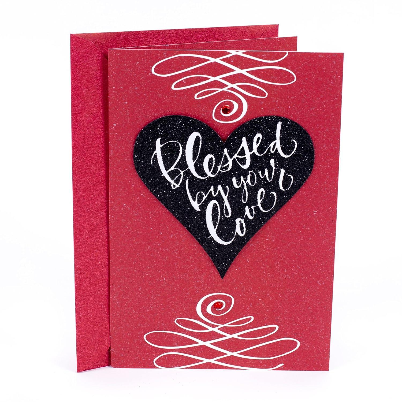 Amazon Hallmark Mahogany Valentines Day Greeting Card For
