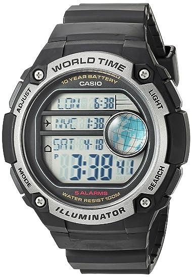 CASIO AE-3000W-1A - Reloj digital de caballero Crono Timer Alarmas Sumergible: Amazon.es: Relojes