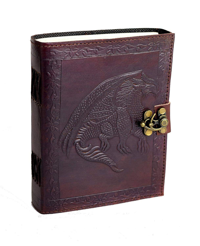 Dragon Tales - Vintage Journal intime en Cuir de Buffle NOUVEAU TYPE DE PAPIER de coton fait main en Inde ROOGU