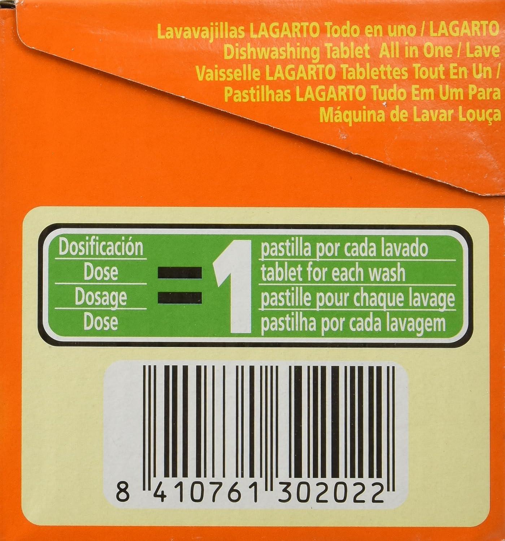 Lavavajillas Lagarto Todo En Uno 40 Pastillas: Amazon.es: Salud y ...