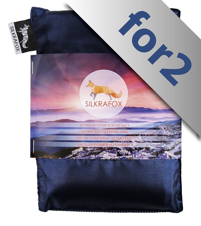 des Voyages ou du Camping Silkrafox for 2 Le Compagnon id/éal des randonn/ées id/éal pour Les Couples Sac de Couchage Ultra-l/éger