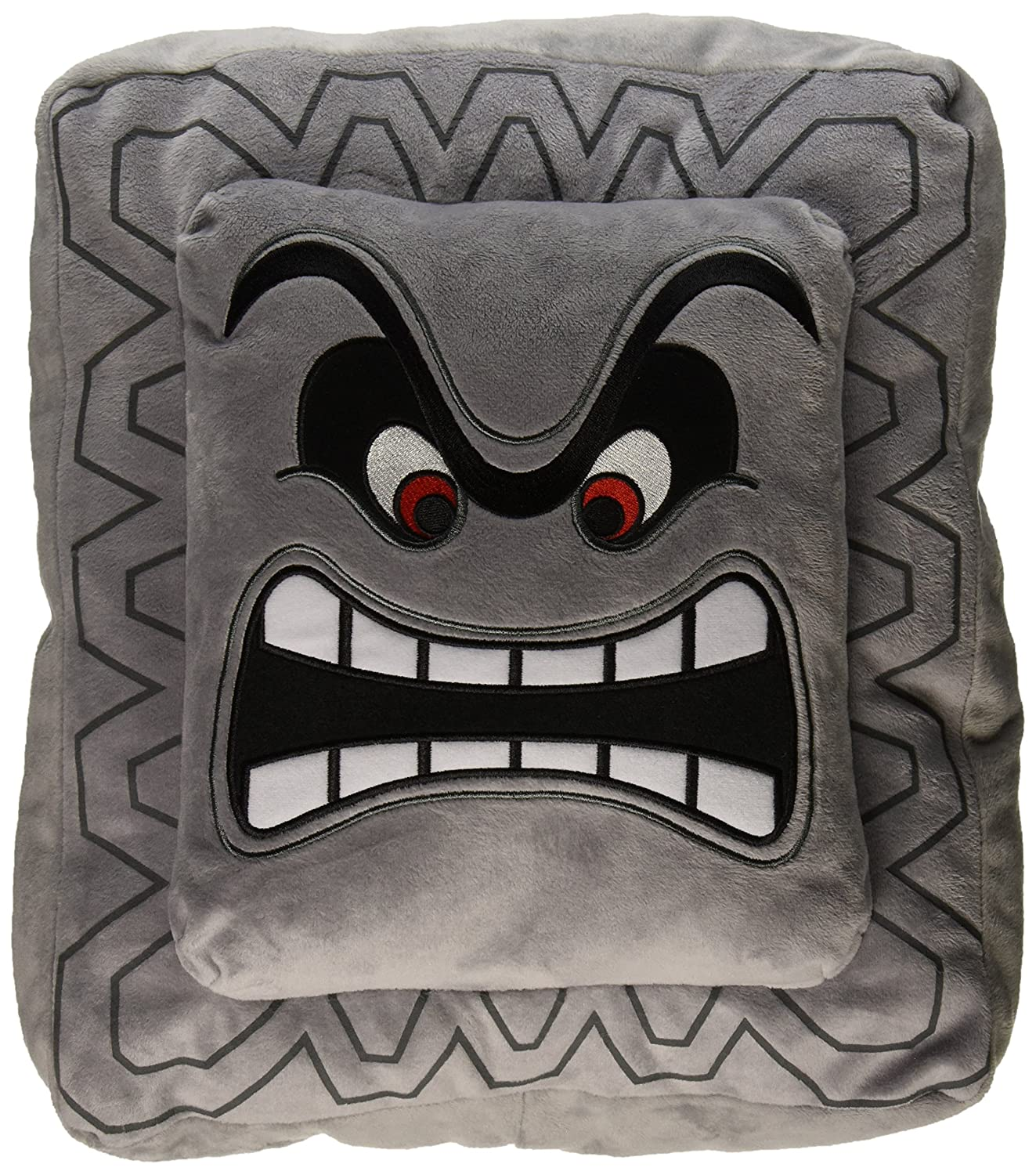 Little Buddy Super Mario Bros 12-Inch Thwomp Pillow Cushion Plush 1261 Accessory Consumer Accessories