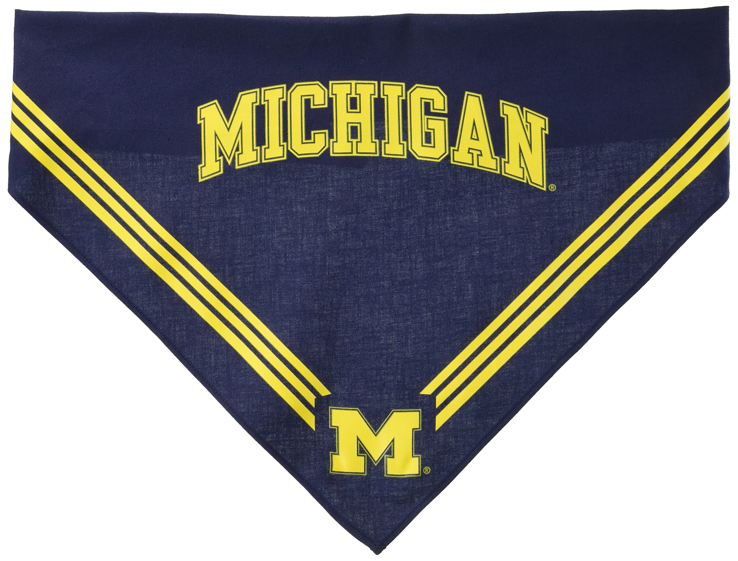 Collegiate Michigan Wolverines Pet Bandana, Medium/Large - Dog Bandana must-have for Birthdays, Parties, Sports Games etc.
