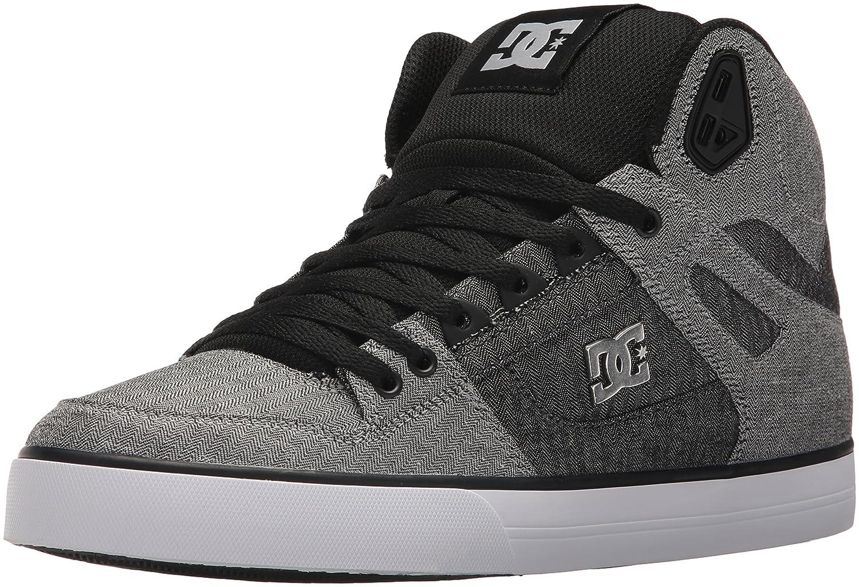 DC Men's Pure High-Top Wc Tx Se Skate Shoe 7.5 D(M) US|Grey/White/Grey