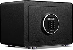 KAPUCI Deluxe Electronic Digital Anti-Theft Safe Box,Auto Opening Steel Struction,Fashion Design Security Home Safes for Home Office Small Business