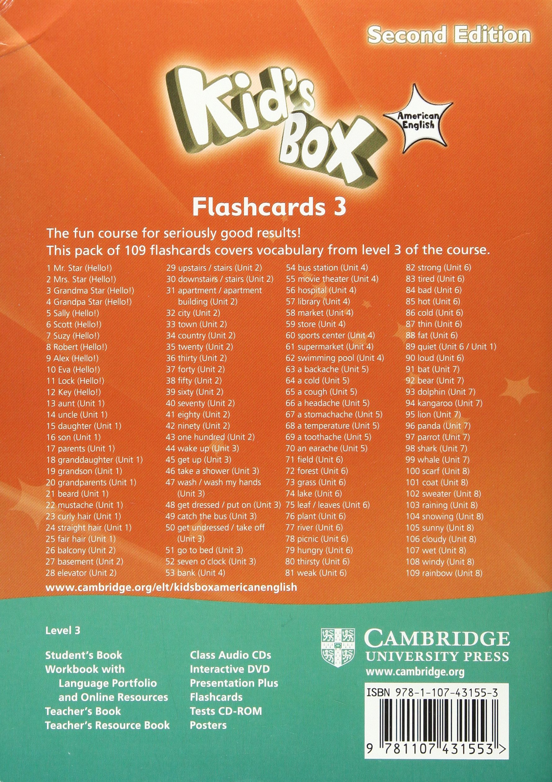 Kid's Box American English Level 3 Flashcards Pack of 109 2nd Edition -  9781107431553: Amazon.es: Caroline Nixon, Michael Tomlinson: Libros en  idiomas ...