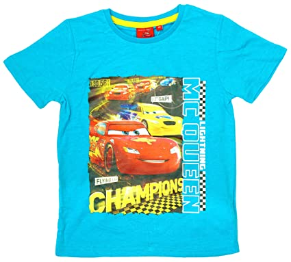 Boys Disney Pixar Cars Lightning McQueen 1st Team T-Shirt Top sizes from 3  to 8 Years  Amazon.co.uk  Clothing 4914c570d