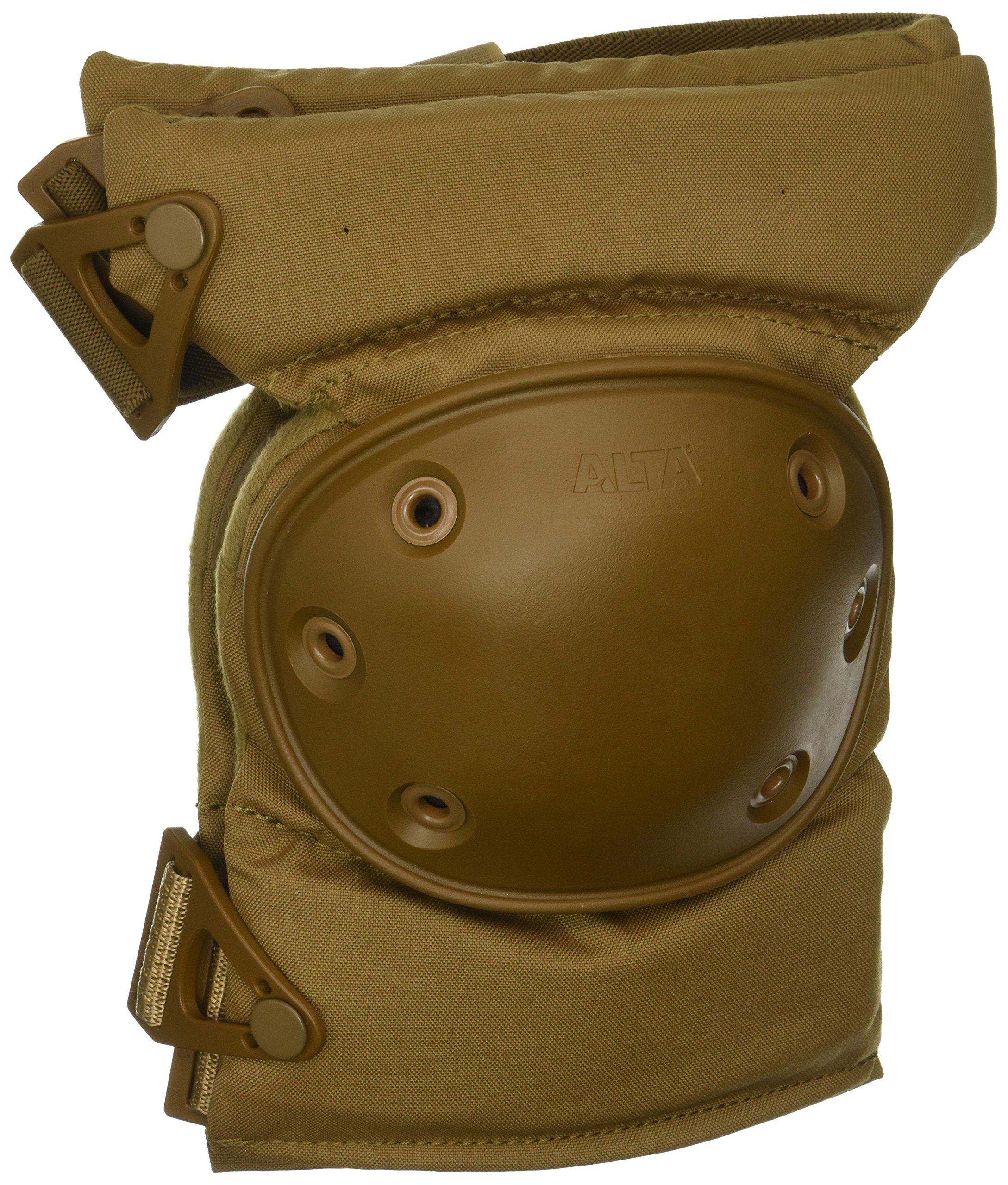 ALTA 52913.14 AltaCONTOUR Knee Protector Pad, Coyote Nylon Fabric, AltaLOK Fastening, Flexible Cap, Round, Coyote