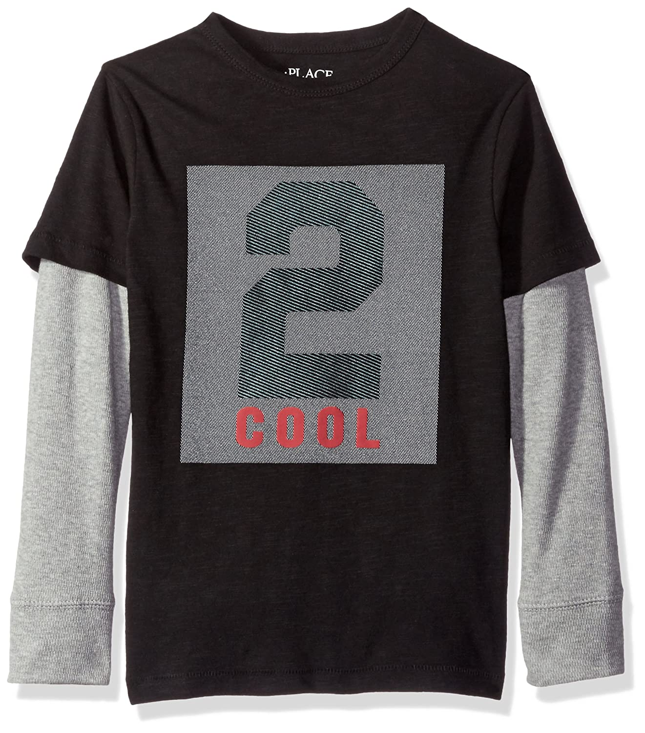 nice The Children's Place Boys' Long Sleeve Graphic 2fer Tee on sale