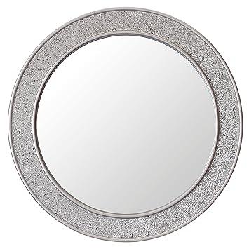 Espejos redondos espejos de vinilo para decorar comedor for Espejo redondo plateado