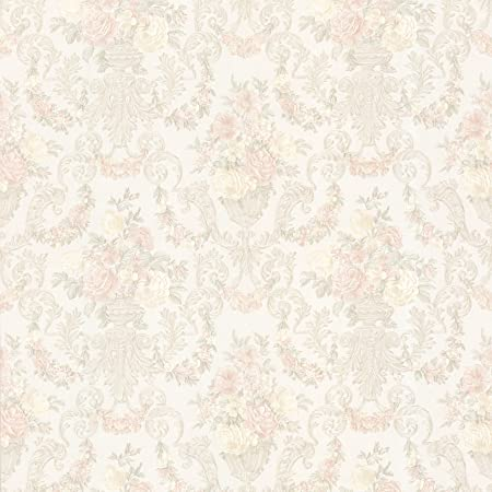 Bhf 993 68667 Phebe Floral Urn Wallpaper Peach