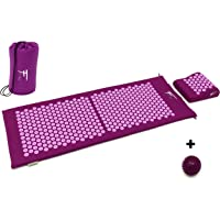 Fitem Kit d'acupression XL - Tapis d'Acupression + Coussin + Sac + Boule de Massage -