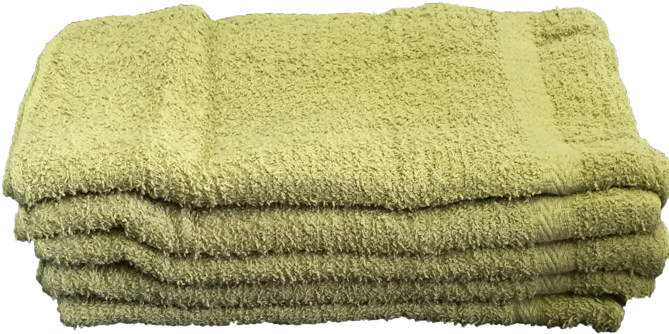 Set of 15 Daily Use Washcloths (Sage Green)