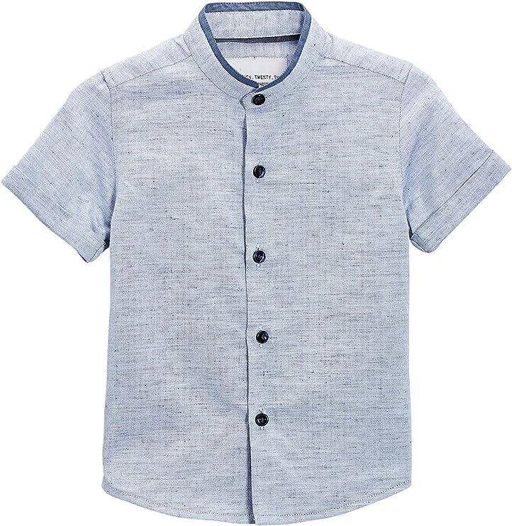 next Niños Camisa Cuello Mao Manga Corta (3 Meses - 6 Años) Corte Estándar 5-6 años: Amazon.es: Ropa y accesorios