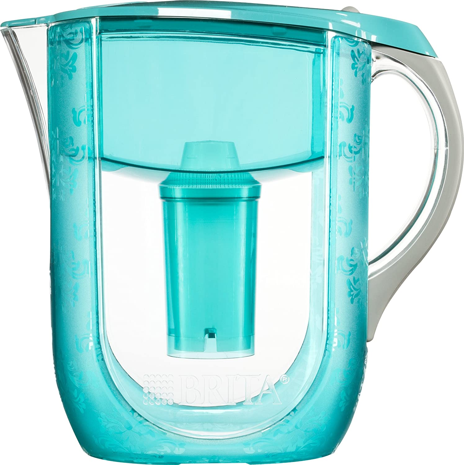 Amazon.com: Brita Grand Water Filter Pitcher, Turquoise Versailles, 10 Cup   Discontinued By Manufacturer: Kitchen U0026 Dining