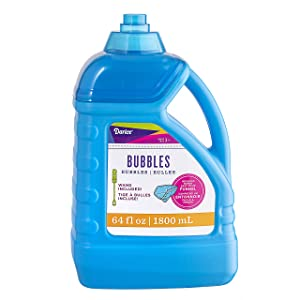 Darice 64-Ounce Bubble Solution-Includes Wand and Easy Pour Funnel Top-Works with Bubble Machines-for Weddings, Birthdays and Outdoor Events