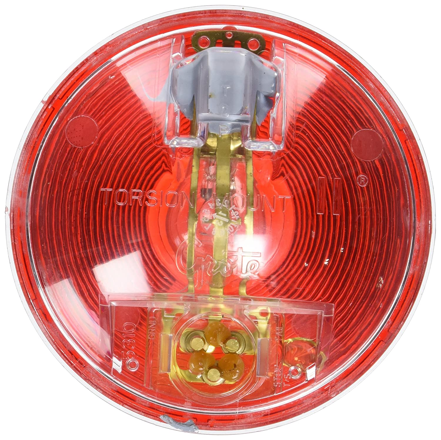Grote 53100 Torsion Mount II 4 Stop Tail Turn Light Clear Housing, Male Pin