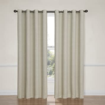Amazon.com: Eclipse Bobbi Grommet Blackout Window Curtain Panel ...