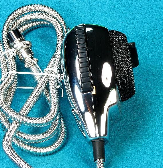 Astatic 636L Chrome Noise Canceling CB Radio Mic 4 pin: Amazon.co.uk ...