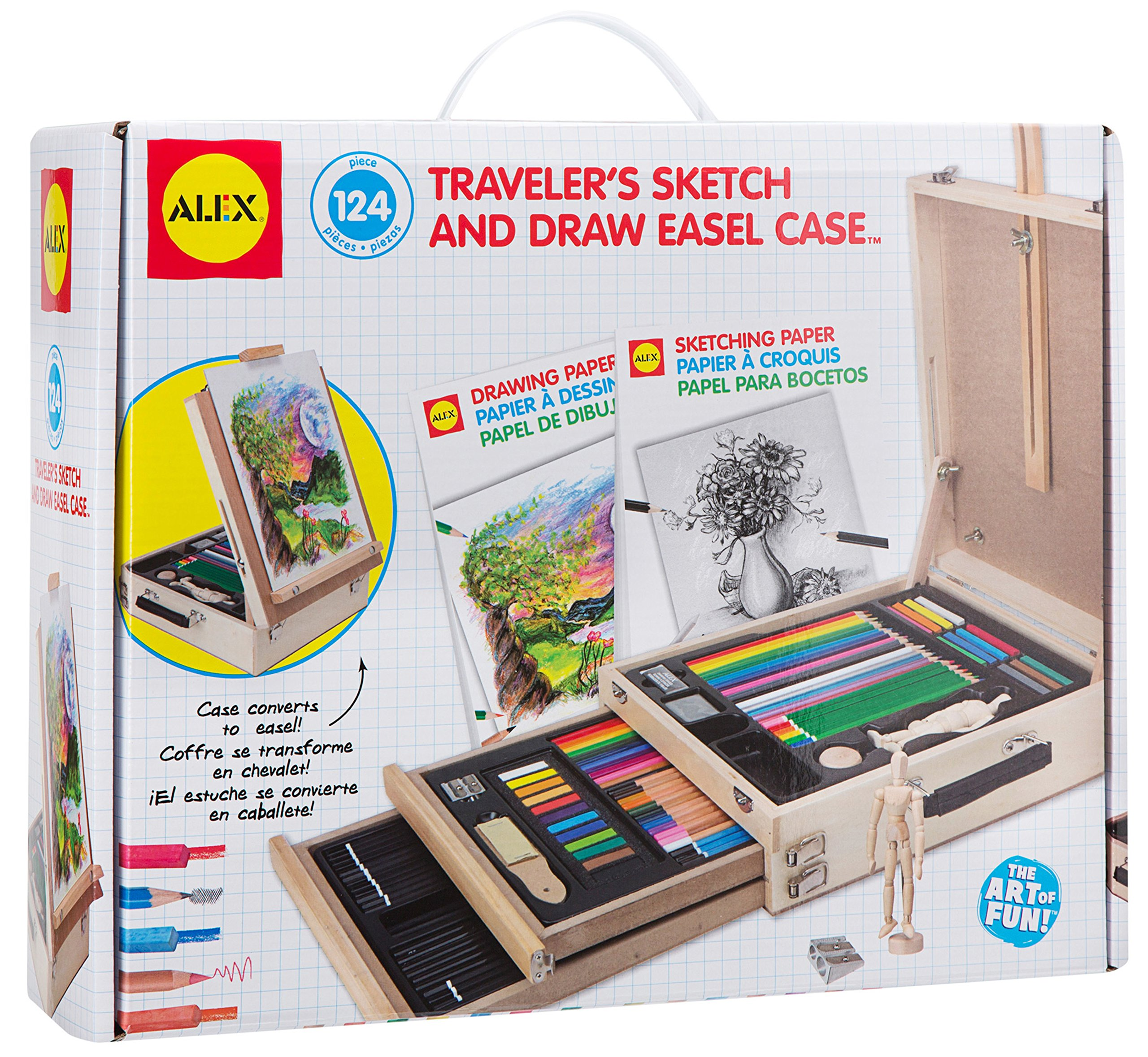 Alex Art Traveler's Sketch and Draw Easel Case by ALEX Toys