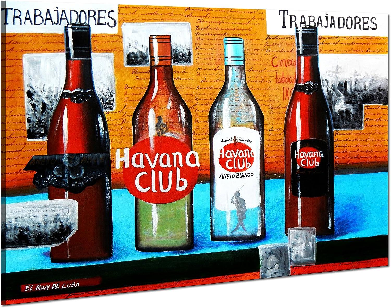 Cuba Havana Club Party - 90x120 - Pintura al óleo Lienzo ...