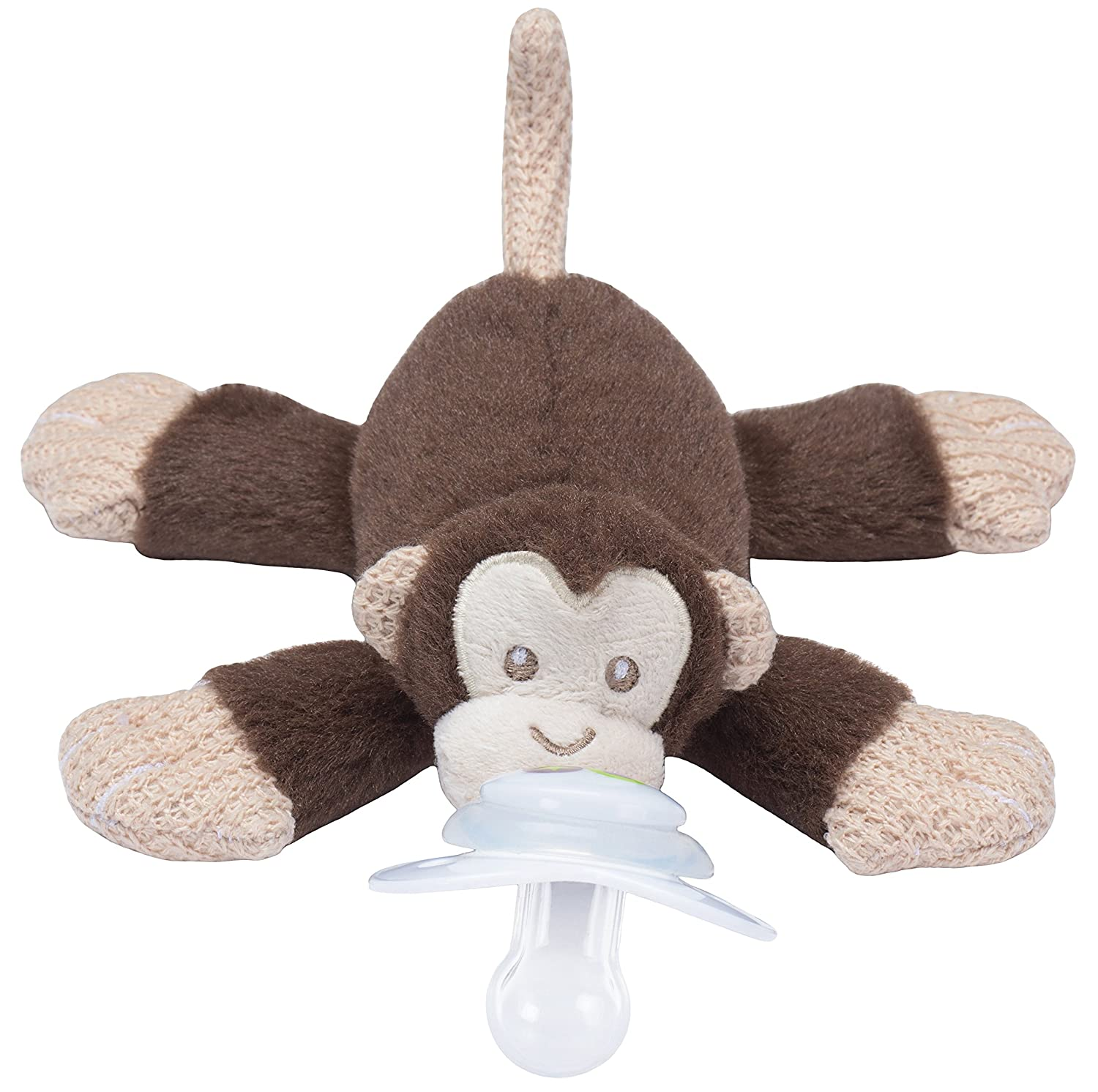 PACI PLUSHIES PLUSH BABY PACIFIER HOLDER MILO MONKEY