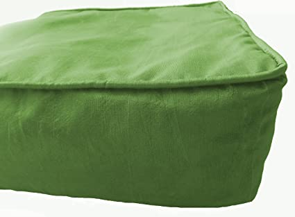Astonishing Box Cushion Covers For Sofa Chair Seat Green Polyester Interior Design Ideas Tzicisoteloinfo