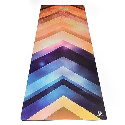 Inner Living The Fusion Yoga Mat - ¡La Mejor Estera Antideslizante ecológica diseñada para agarrar más sudada! Reversible y Lavable
