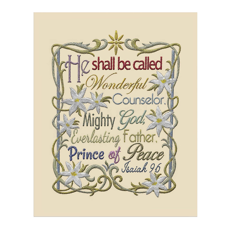 Hippie Canvas Decor For unto us a Child is born Isaiah 9:6 Christ Canvas