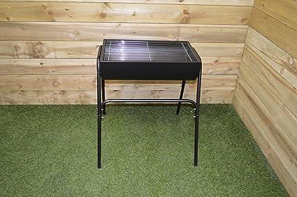 Grande Medio Barril barbacoa parrilla de cromado Tambor con ajustable de jardín patio de carbón de