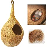 ZENRISE® Coconut Fiber Little Birds nest for cage and Balcony Birds Sparrows Finches breeding (Beige)