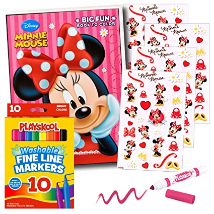 Amazon.com: Minnie Mouse Coloring Book with Markers: Toys & Games