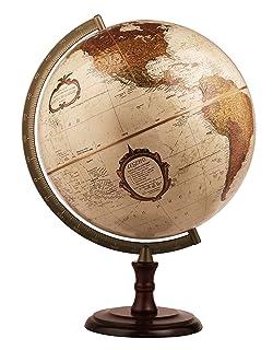 Replogle superior- bronzo metallizzato desktop World Globe, raised Relief (30,5cm/30cm di diametro)