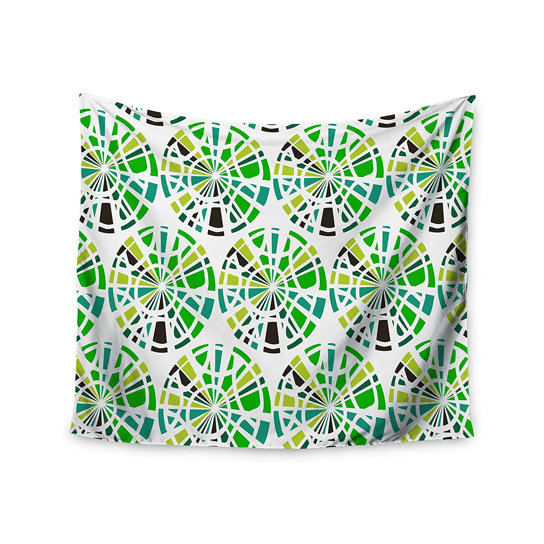 51 x 60 Wall Tapestry Kess InHouse Patternmuse Precious Emerald Green Olive Illustration