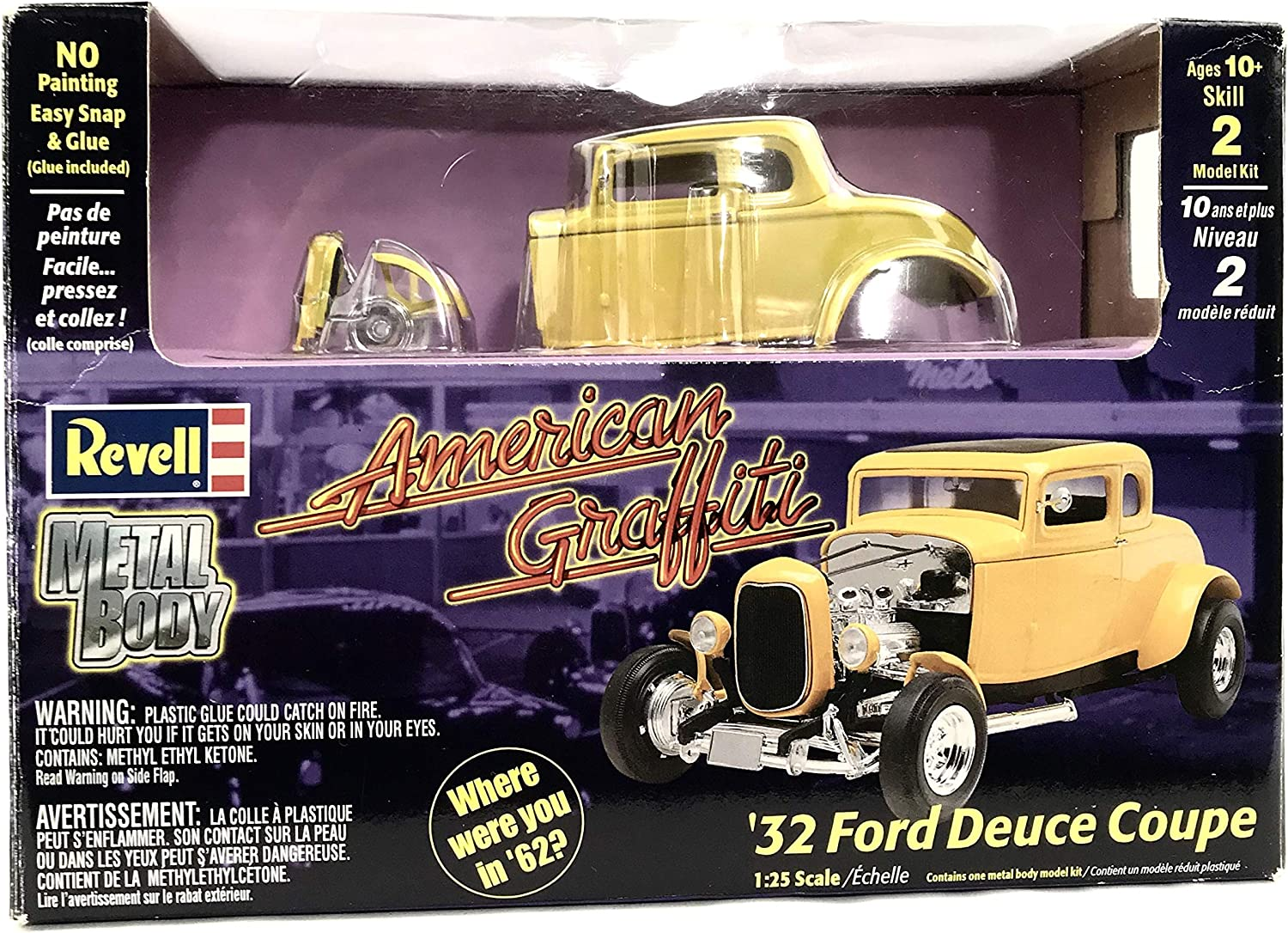 Amazon Com American Graffiti Revell 32 Ford Deuce Coupe Toys Games