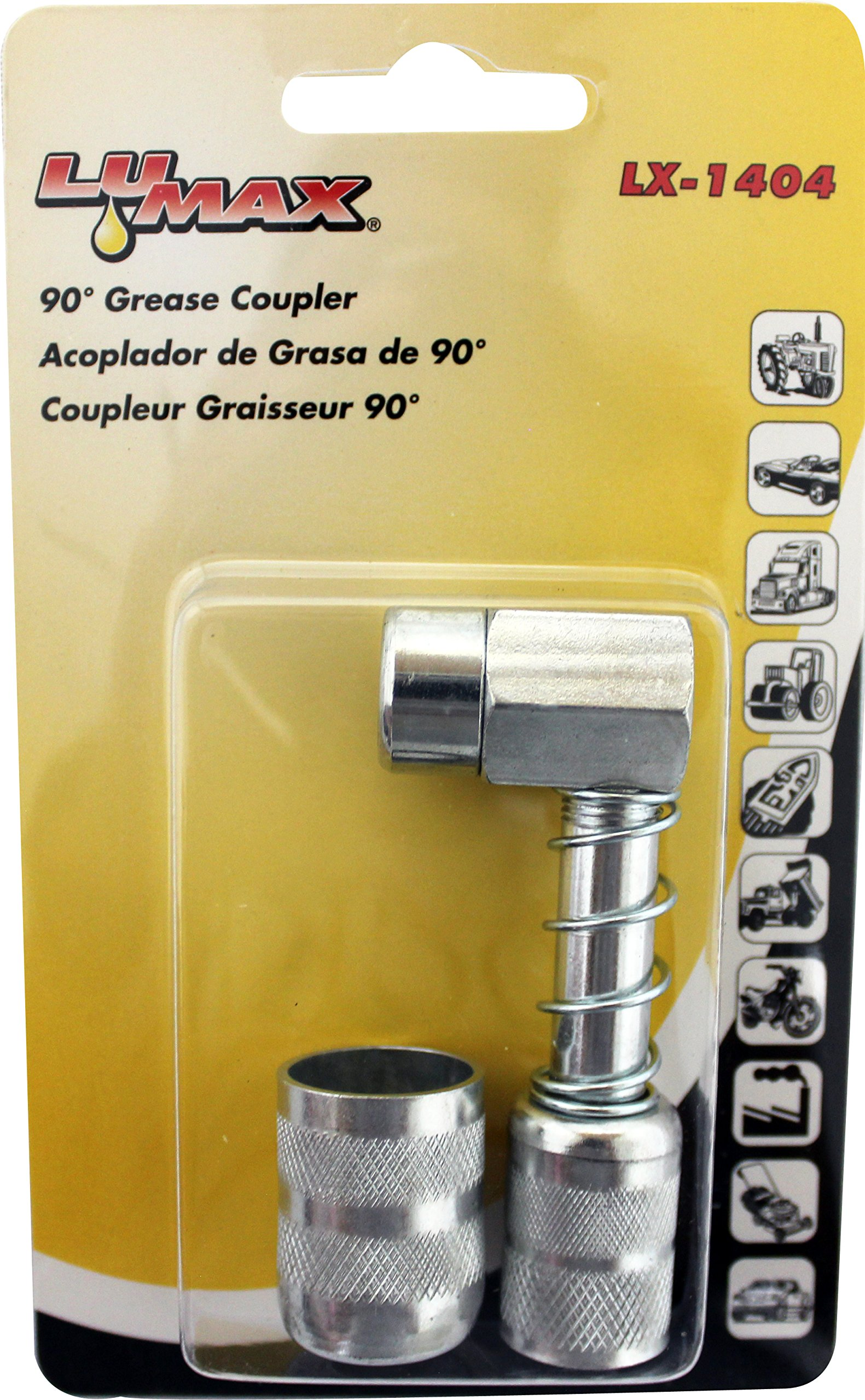 Lumax LX-1404 Silver 90 Degree Grease Coupler by Lumax (Image #2)