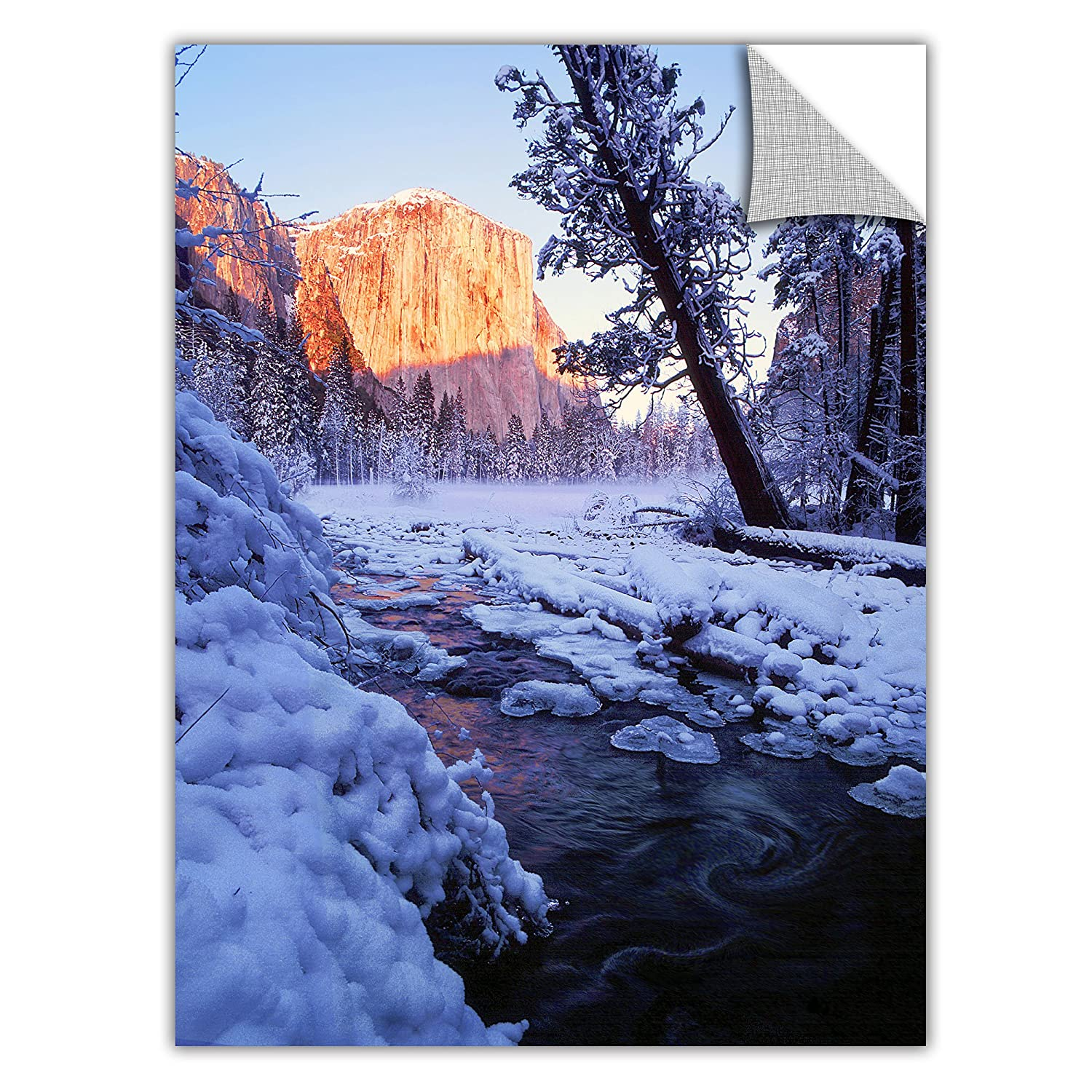 24-Inch by 32-Inch ArtWall Dean Uhlinger Winter Paradise Removable Graphic Wall Art