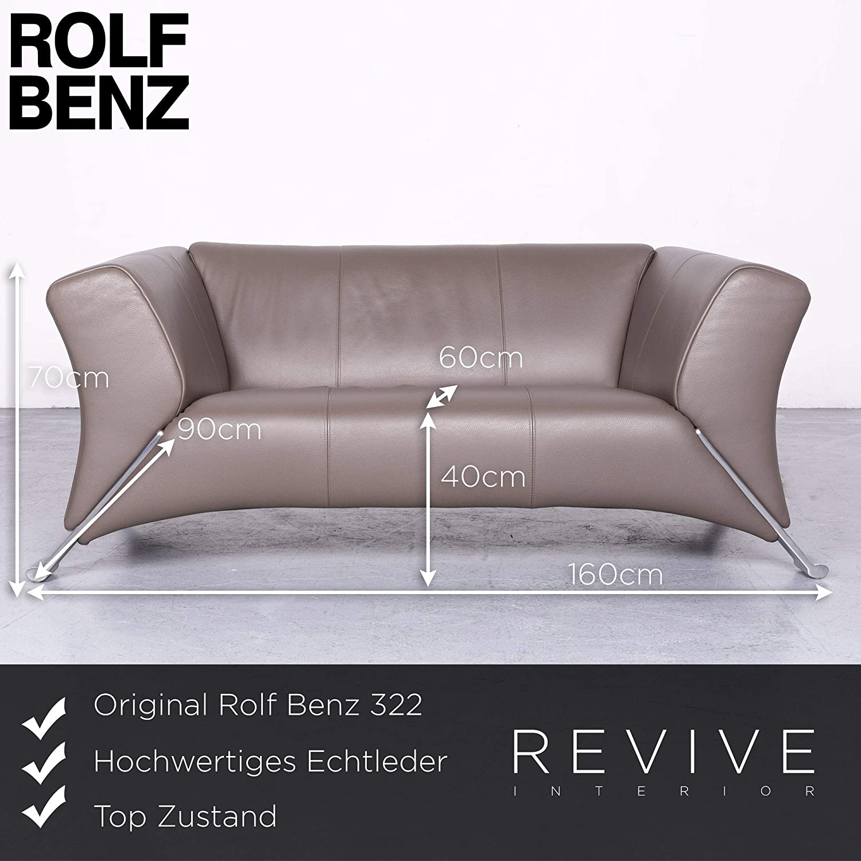 Amazoncom Rolf Benz 322 Designer Leder Sofa Braun