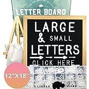 Letter Board 12x18   +690 PRECUT Letters +Stand +Sorting Tray   (Black) Letter Board with Letters, Letters Board, Letter Boards, Felt Letter Boards, letterboard, Word Board, Message Board, Letter Sign